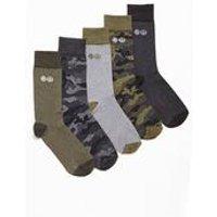 Crosshatch 5 Pack Camo Socks