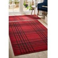 tartan check rug