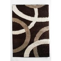 retro shaggy curve rug