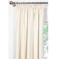 Unlined Plain Canvas Pencil Pleat Curtains