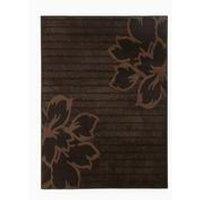 luna carved floral designed rug