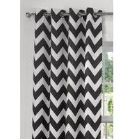 Chevron Eyelet Lined Curtains