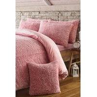 Two Tone Sherpa Fleece Cushion Cover