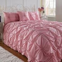 Square Ruched Bedspread with Free Pillowshams