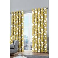 Retro Flower Cotton Curtains