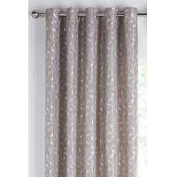 Lola Silver Leaf Eyelet Curtains