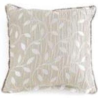 Lola Silver Leaf Filled Cushion
