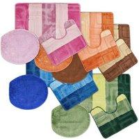Cube Tonal Stripe Jacquard 3 Piece Bath Set