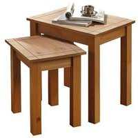 Panama Solid Pine Nest Of 2 Tables