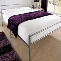 Gemini Silver Bed without Mattress