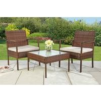Malaga 3-Piece Rattan-Effect Lounge Set