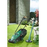 Q Garden 1000W Lawnmower With FREE 250W Trimmer