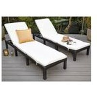 Rattan-Effect Lounger