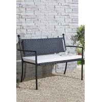 Winchester Rattan Bench With Cushion