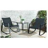 3-Piece Outdoor Rocking Chair Set