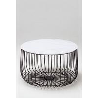 Enzo Marble Top Cage Table