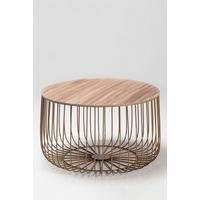 Enzo Oak Finish Top Cage Table