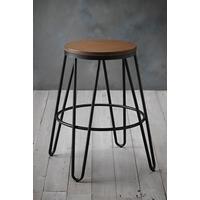 Ikon Wood Seat Bar Stool