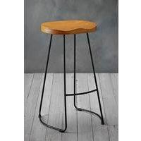 Bailey Pine Wood Seat Bar Stool