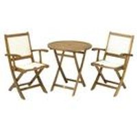 Royalcraft York Bistro Set with Henley Armchairs