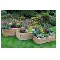 Set of 3 Forest Durham Rectangular Planters