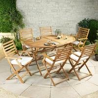 Cayman Wooden 7-Piece Dining Set