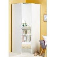 Corner Wardrobe with Mirror