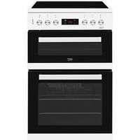 Beko 60cm Double Oven Electric Cooker with Ceramic Hob