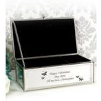 Personalised Butterflies Jewellery Box