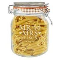 Personalised Mr and Mrs Glass Kilner Jar