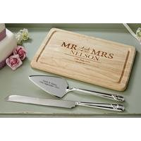 Personalised Mr and Mrs Rectangle Chopping Board