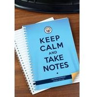 Personalised Manchester City Keep Calm Notebook