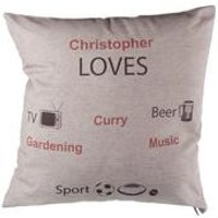 Boy Likes... Personalised Cushion Cover
