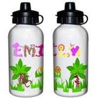 Animal Alphabet Personalised Drinks Bottle Girls