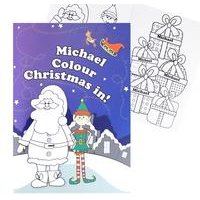 Personalised Christmas Colouring Book Elf