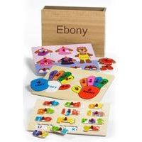 3 Personalised Wooden Puzzles