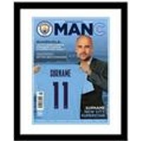 Personalised Man City Magazine Front Cover - Framed