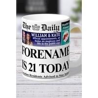 Personalised The Daily Birthday Mug
