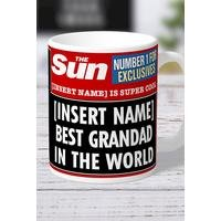 Personalised The Sun Best Grandad Mug