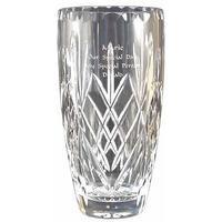 Personalised 7 Inch Crystal Cut Vase