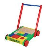 Personalised Baby Walker with Wooden Blocks