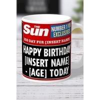 Personalised The Sun Birthday Mug
