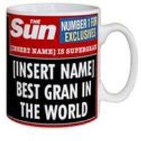 Personalised The Sun Best Gran Mug