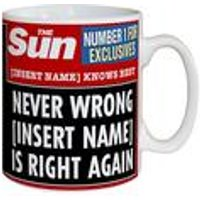 Personalised The Sun Knows Best Mug
