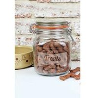 Personalised Retro Label Pet Treats Canister