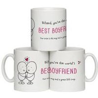 Personalised Chilli and Bubble's 'Best Boyfriend' Mug
