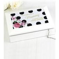 Personalised Floral Polka Dot Jewellery Box