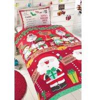 Personalised Santas Workshop Duvet Set - Single
