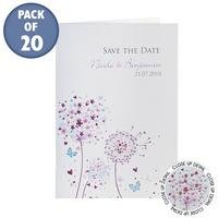 Personalised Butterflies Save The Dates