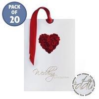Personalised Rose Heart Evening Invitations